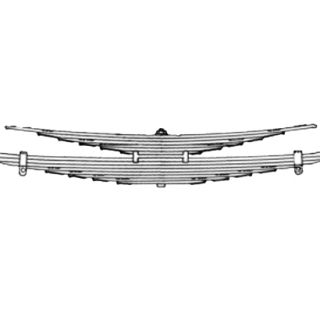 Rear leaf spring 30461000 package for Mercedes-Benz 1622
