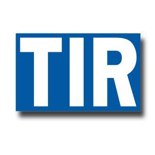 TIR truck plate