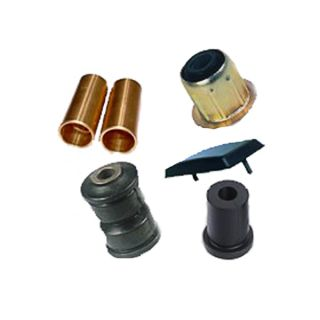 Leaf spring splash pads and bushings from 1,50 lv.