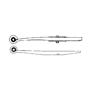 Semi-trailer leaf spring 23601900 package for Ackermann-Fruehauf