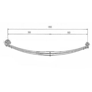 Front leaf spring 09688000 package for Volvo